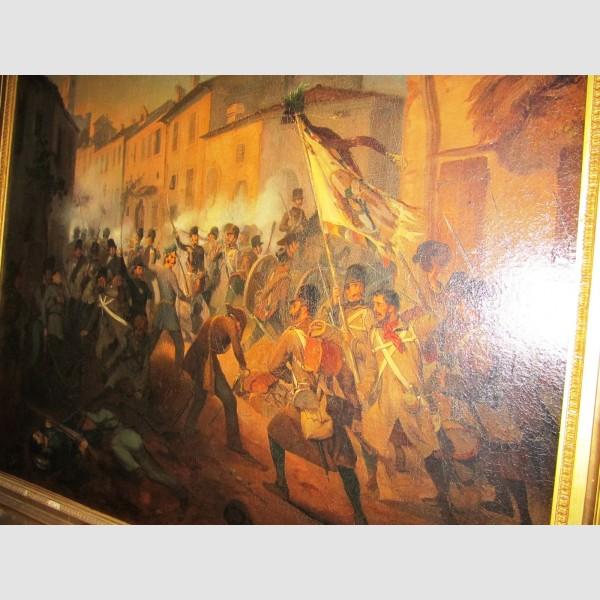 Schlachtenbild Österreich Austria Monarchie Wilhelm Richter 1851 Schlacht bei Volta