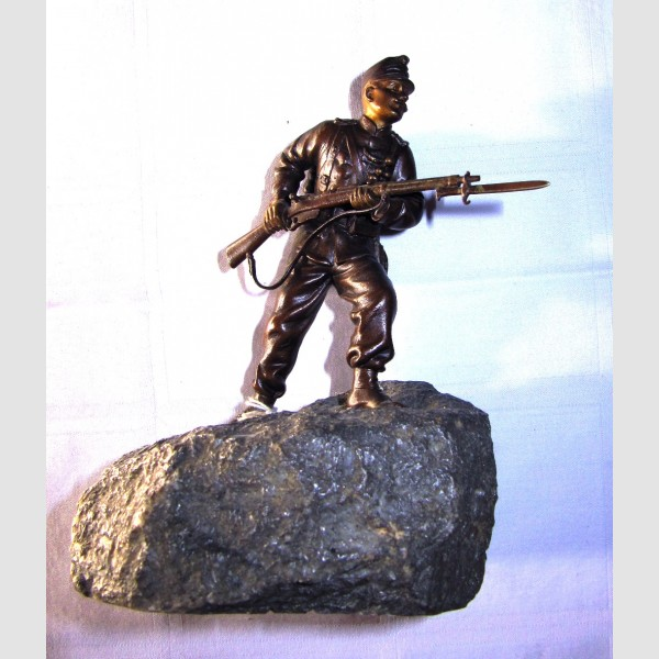 Bronze Skulptur Bergmann Wien signiert k u k Soldat Monarchie