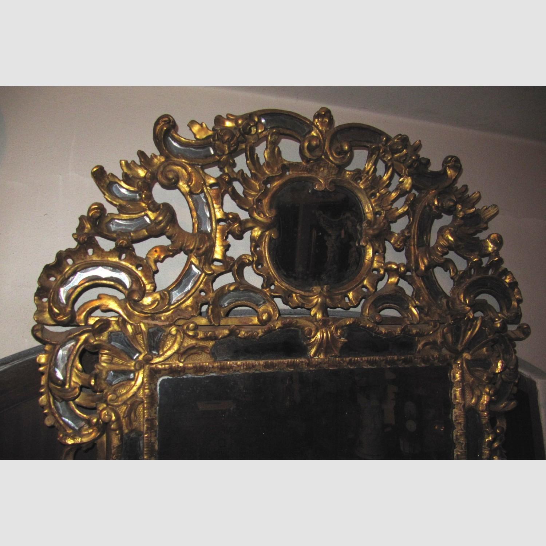 barock spiegel vergoldet holz geschnitzt geschliffenes. Black Bedroom Furniture Sets. Home Design Ideas